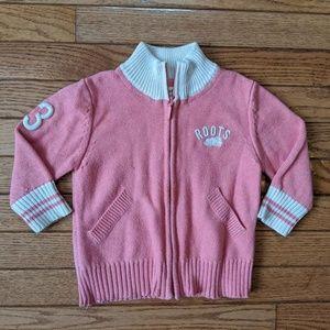 Roots Pink Sweater Zip Up